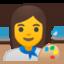 Woman Artist Emoji (Google)