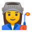 Woman Factory Worker Emoji (Google)