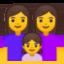 Family: Woman, Woman, Girl Emoji (Google)