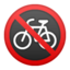 No Bicycles Emoji (Google)