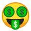 Money-Mouth Face Emoji (Google)