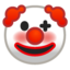 klouno veidas Emoji (Google)