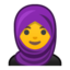 Woman With Headscarf Emoji (Google)