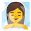 Person In Steamy Room Emoji (Google)