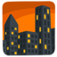 Cityscape At Dusk Emoji (Messenger)
