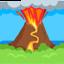 Volcano Emoji (Messenger)