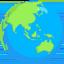 žemės rutulys su Azijos ir Australijos žemynais Emoji (Messenger)