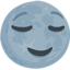 New Moon Face Emoji (Messenger)