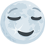 Full Moon Face Emoji (Messenger)