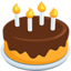 Birthday Cake Emoji (Messenger)