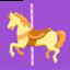 Carousel Horse Emoji (Messenger)