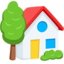 House With Garden Emoji (Messenger)