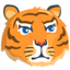 Tiger Face Emoji (Messenger)