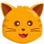 Cat Face Emoji (Messenger)