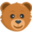 Bear Face Emoji (Messenger)