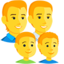 Family: Man, Man, Boy, Boy Emoji (Messenger)