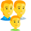 Family: Man, Man, Boy Emoji (Messenger)