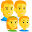 Family: Man, Man, Girl, Boy Emoji (Messenger)