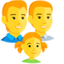 Family: Man, Man, Girl Emoji (Messenger)