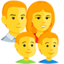 Family: Man, Woman, Boy, Boy Emoji (Messenger)