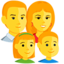 Family: Man, Woman, Girl, Boy Emoji (Messenger)