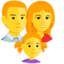 Family: Man, Woman, Girl Emoji (Messenger)