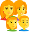 Family: Woman, Woman, Girl, Boy Emoji (Messenger)