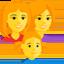 Family: Woman, Woman, Girl Emoji (Messenger)