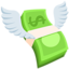 Money With Wings Emoji (Messenger)
