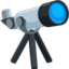 Telescope Emoji (Messenger)