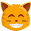 Grinning Cat Face With Smiling Eyes Emoji (Messenger)