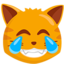 Cat Face With Tears Of Joy Emoji (Messenger)