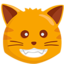 Grinning Cat Face Emoji (Messenger)