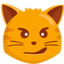 Cat Face With Wry Smile Emoji (Messenger)