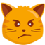 Pouting Cat Face Emoji (Messenger)