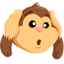 Hear-No-Evil Monkey Emoji (Messenger)