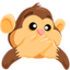Speak-No-Evil Monkey Emoji (Messenger)