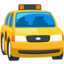 Oncoming Taxi Emoji (Messenger)