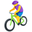 Person Biking Emoji (Messenger)