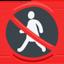 No Pedestrians Emoji (Messenger)