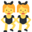 persone con orecchie da coniglio Emoji (Twitter, TweetDeck)